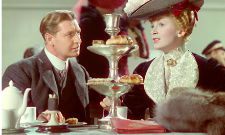 Roger Livesey and Deborah Kerr at the beginning of General Wynne-Candy's career