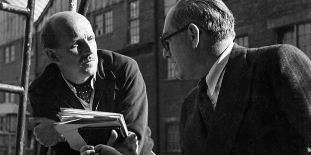Michael Powell and Emeric Pressburger at work. They had one of the most successful working partnerships in British film history