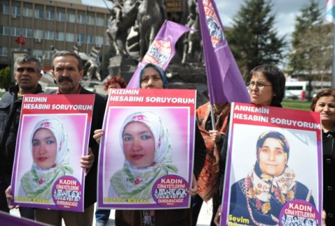 Protesting against domestic violence in Turkey.