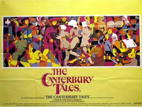 "Film poster of  ""The Canterbury Tales"""