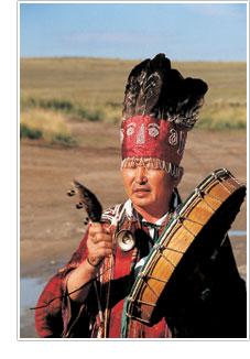 A Siberian shaman.