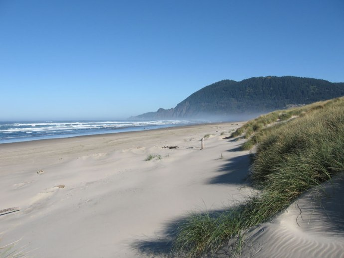 Manzanita Beach with Neahkahnie Mountain in the background