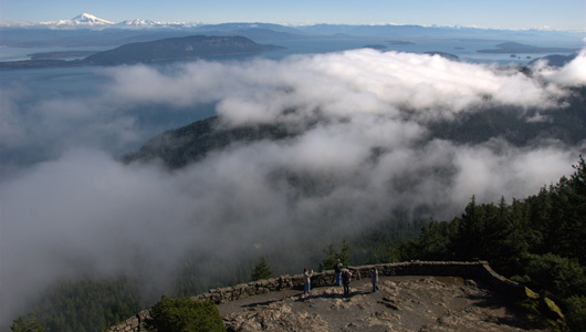 View from top of Mount Constitution on a sunnier day than when I went.