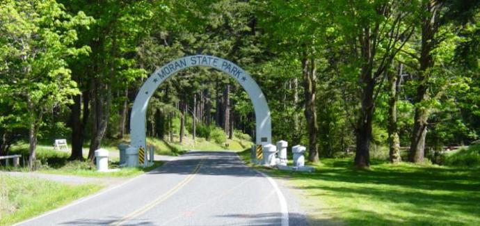 Moran State Park entrance.