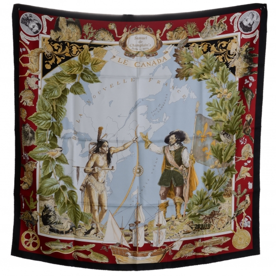 Hermes silk scarves START at $500 each. Each season they make a limited number of each design which are usually pretty cool. This one commemorating Quebec is now a collector's item. Good luck ever finding one on the cheap.