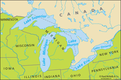 The Great Lakes area.