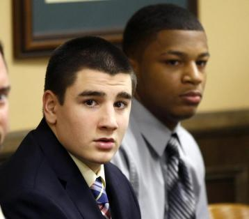 Trent Mays and Ma'lik Richmond  both 16 at the time of the crime, were convicted in juvenile court for the rape of a minor in the Steubenville High School rape case.