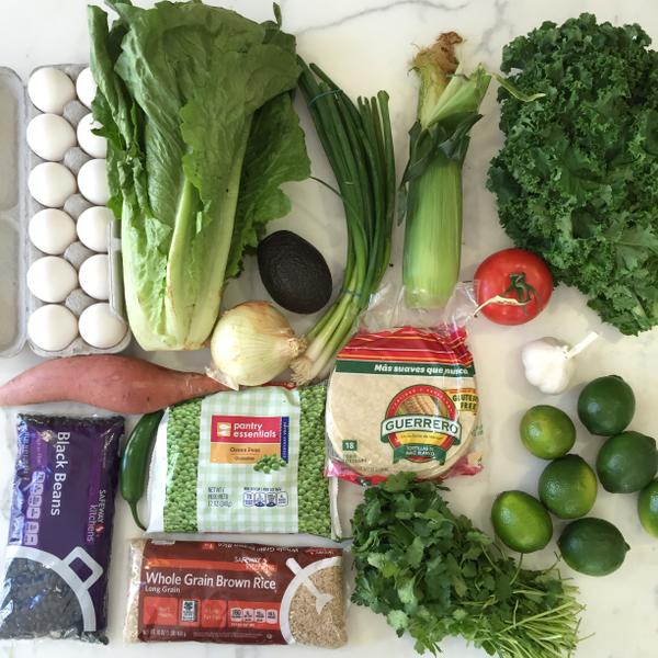 Gwynnie-poo's $29 haul which was supposed to feed her family for a week.  Do you really need 7 limes?
