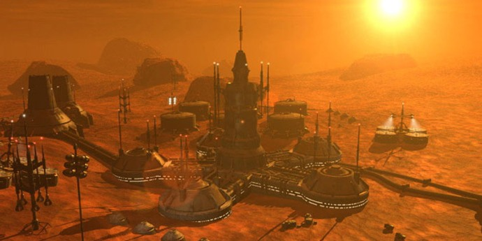Colony on Mars...not a good idea.