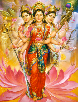Goddess Shakthi. In Hindu lore, she is the cause. She is also known as Maya, the supreme illusion. The world is itself an illusion. Nothing is forever. The only reality is the presence of Cosmic Intelligence within all beings, small, medium or large.