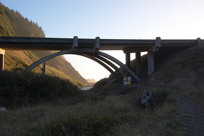 Trail from campground, goes under a bridge and leads you to the beach.