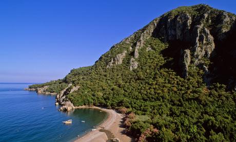 The beach at Olympos, Turkey
