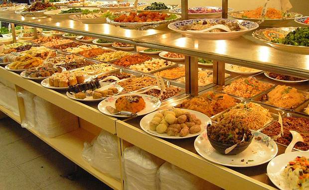 man cannot live on bread alone... ( or all-you-can-eat buffets either for that matter)