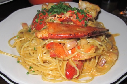 The Lobster Spaghetti at Joe Beef. You have to eat this once in your life to believe how good it is.