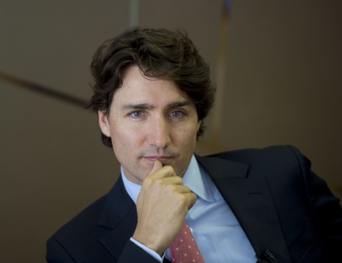 Justin Trudeau trying to look Prime Ministerial