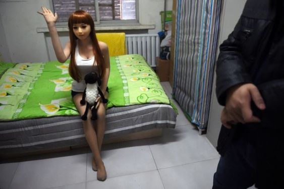 How's it going Lady? A fake Chinese sex doll.