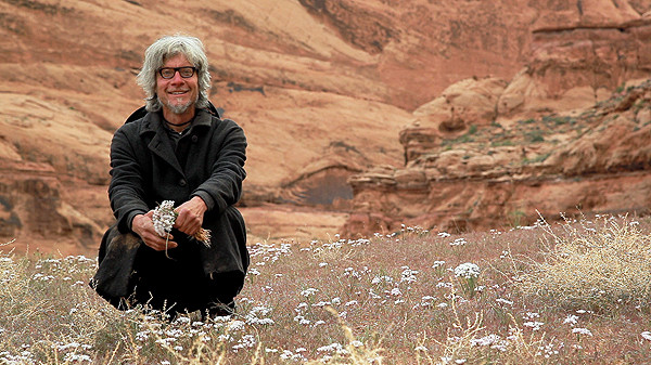 Modern-day hermit, The man Who Quit Money, Daniel Suelo, living in the wilds of the Utah canyons around Moab.