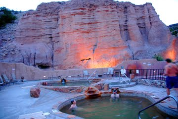 Iron and Arsenic Pools at night at Ojo Calientes