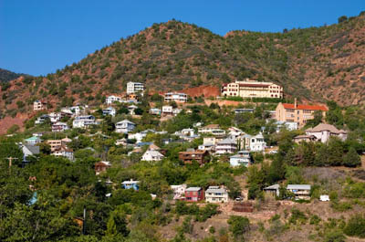 Jerome, is nothing more than a few streets but sits one mile high up a mountain near an old mine.