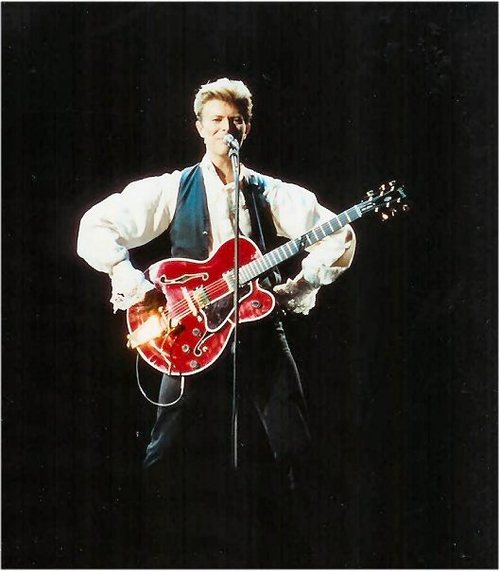 Bowie during the Sound and Vision tour