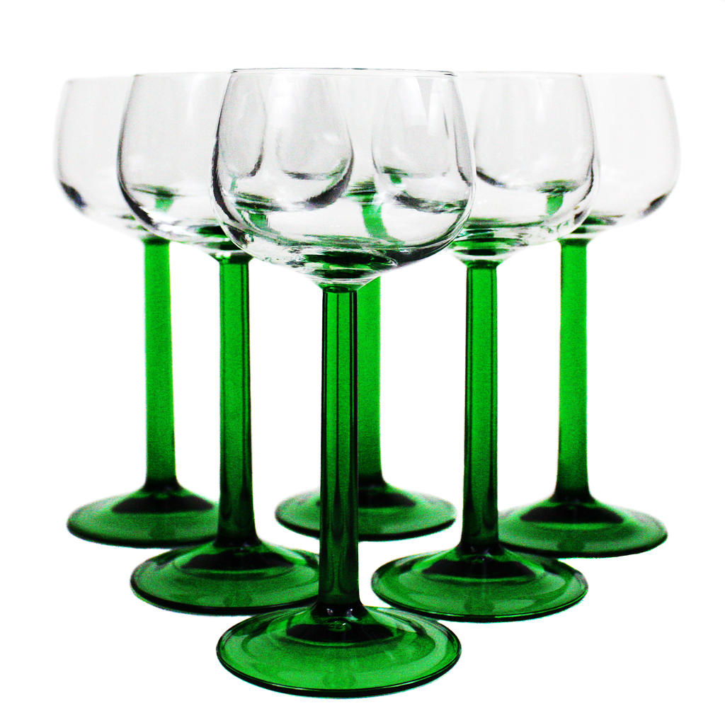 Luminarc of France once made these wine glasses specifically for Alsatian or Reisling wines. They have long been discontinued and you can only find them on ebay or thrift shops once in a while.