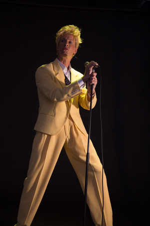 Bowie is the only man I know who can pull of a pompadour and a yellow suit of all things, and still manages to look amazing.