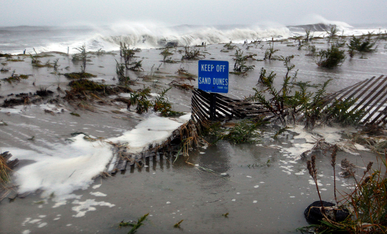 When Hurricane Sandy hit.