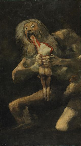 "Francisco de Goya's famous painting of ""Saturn devouring his Son"""