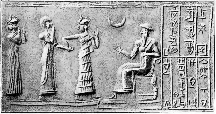 Relief of Babylonian gods.