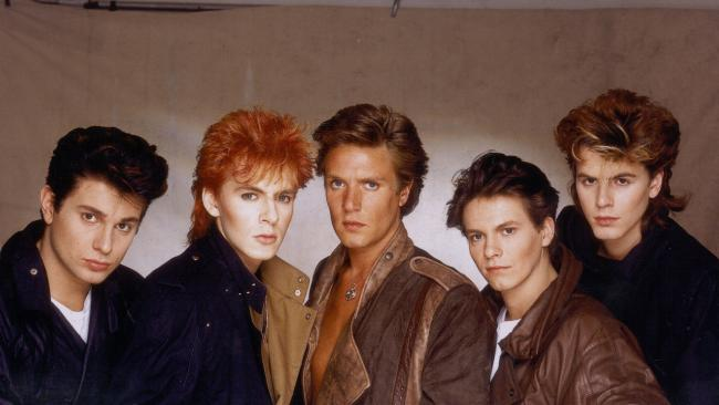 The Fab Five back in the day. (l-r, Roger Taylor, Nick Rhodes, Simon LeBon, Andy taylor, John Taylor.