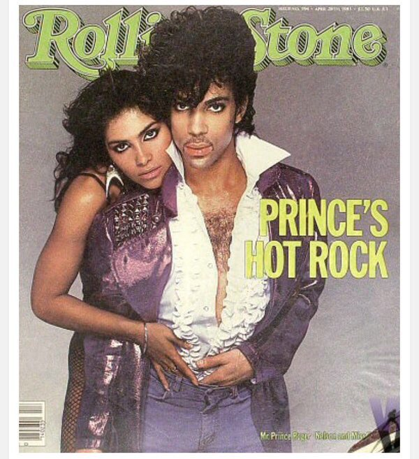 Prince and Vanity rocking the cover of Rolling Stone magazine