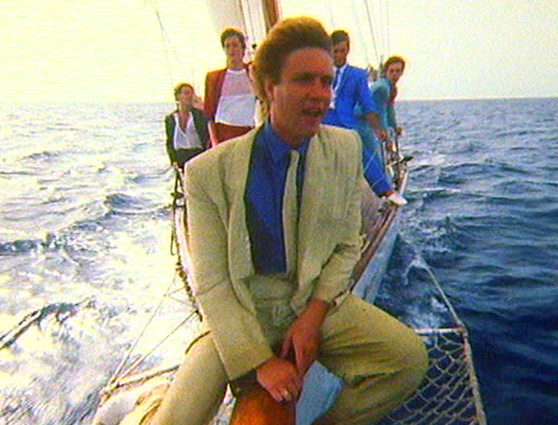 "Still from the ""Rio"" video in the middle of the Caribbean somewhere. Check out the Antony Price suits."