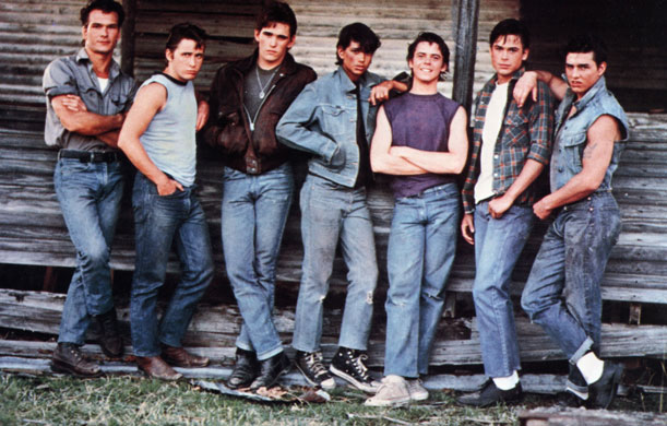 """The Outsiders"" film, based on the book by S.E Hinton. Jimmy ran in the same circles."