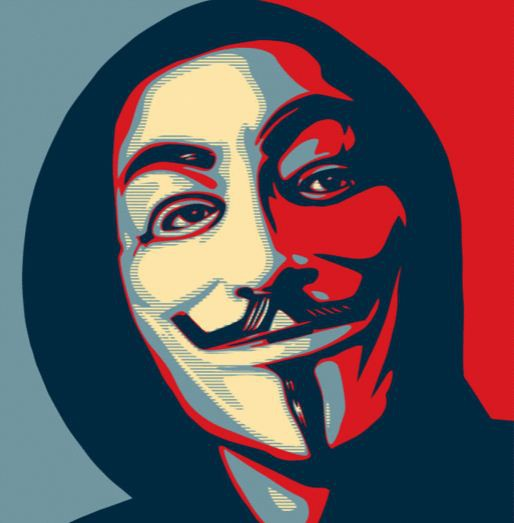Shepard Fairey's Guy Fawkes Anonymous mask