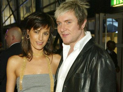 Simon Lebon and British-Iranian model wife Yasmin LeBon.
