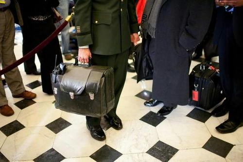 There is no nuclear button but there is this briefcase...