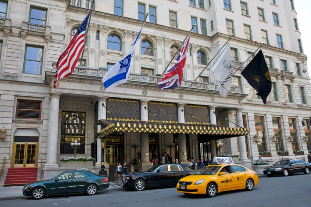 The Plaza Hotel, across the street from Central Park South