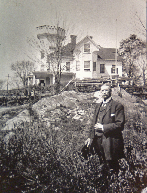 And with the Brownie mansion in the background, shortly after it was constructed.