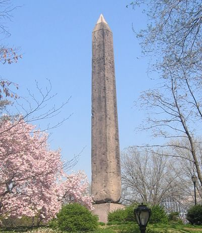 The new York obelisk before its recent clean-up.