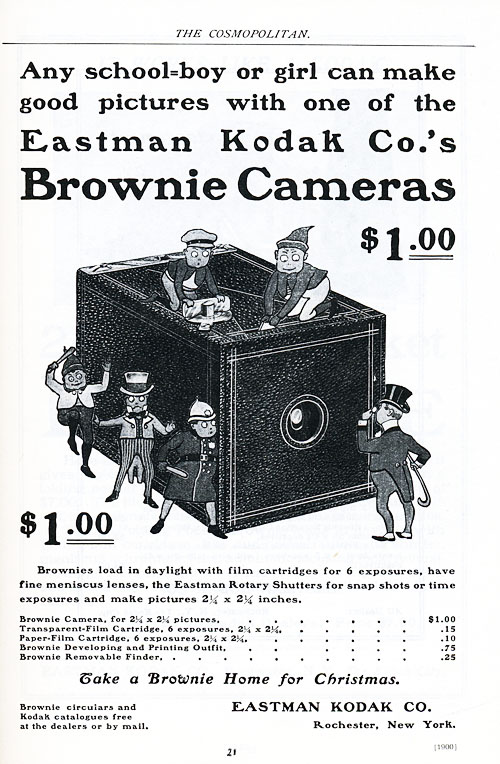 The Eastman Kodak company using the Brownies for an ad.