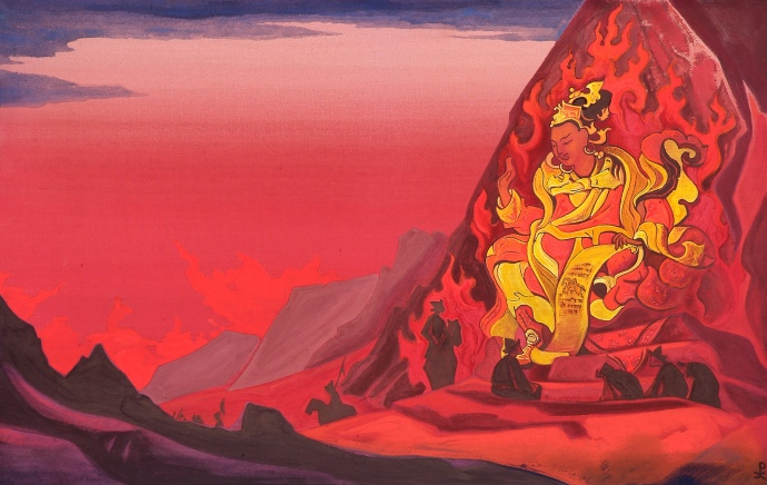 Order of Rigden Jyepo, Nicholas Roerich 1933. I bought a magnet of this at the museum and its on my fridge.