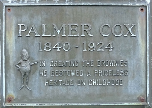 Plaque on Cox's grave.