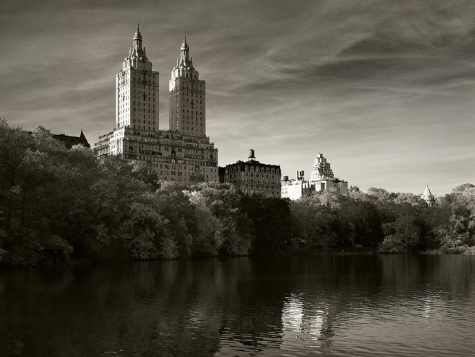 The twin-towered San Remo building as seen from Central Park. Tons of celebrities live there. Bono own one tower and apparently Demi Moore has been trying to sell her tower for a reported $75 million dollars.