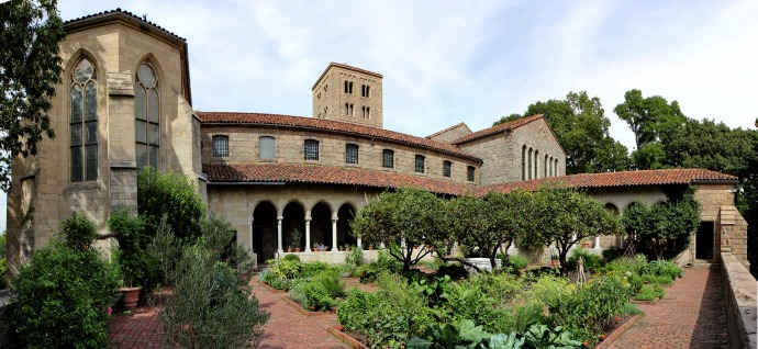 The garden of The Cloisters museum