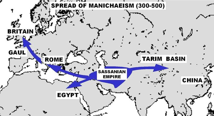 This is how widespread Manichaeism was, once upon a time.