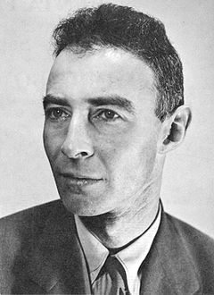 J. Robert Oppenheimer, the father of the atom bomb.