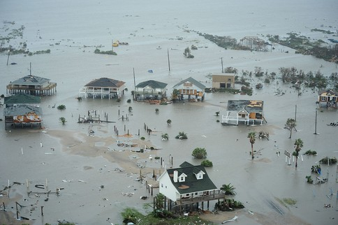 Flooding in Galveston, Texas