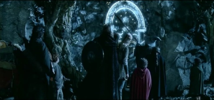 "Remember when the Fellowship found the Door of Durin using moonlight in ""Lord of the Rings""?"