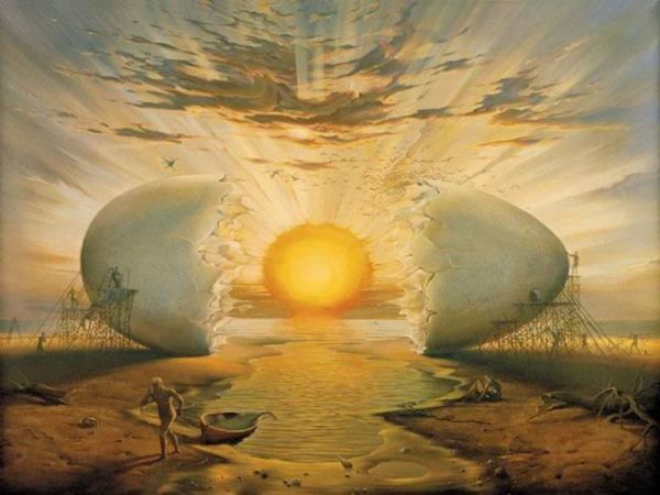 """Sunrise by the Ocean"" -By Vladimir Kush"