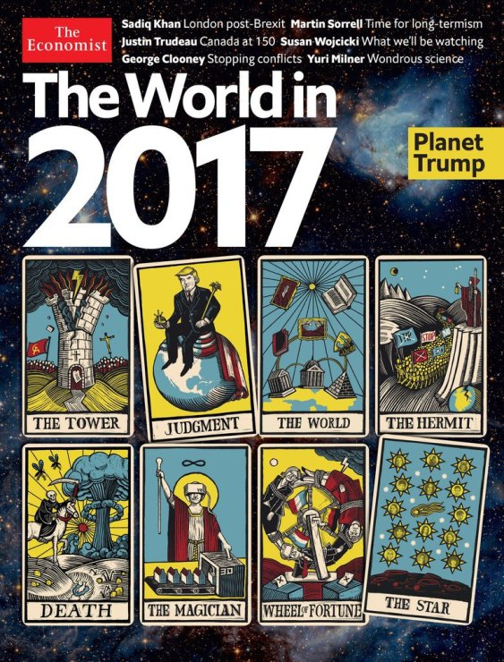 When you have such a conservative magazine like The Economist doing a parody of the Tarot cards for their cover, then you know something strange is up.